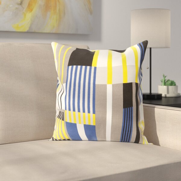 Powers 100% Cotton Throw Pillow Cover by Ebern Designs